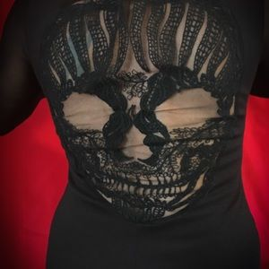Auditions Fashion / Body Con / Skull Back Dress